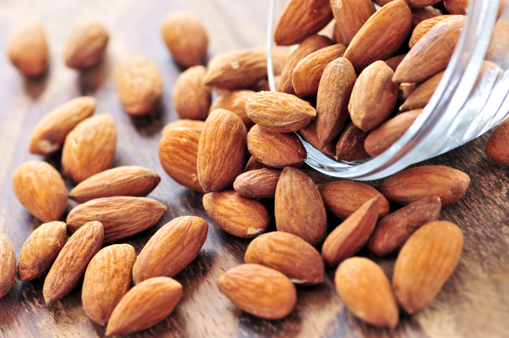 A top food for vitamin E is almonds