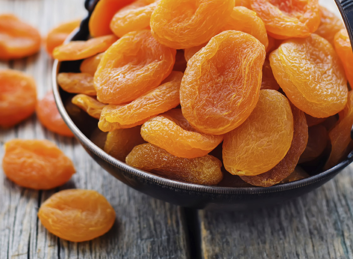dried apricots are a top food for vitamin E