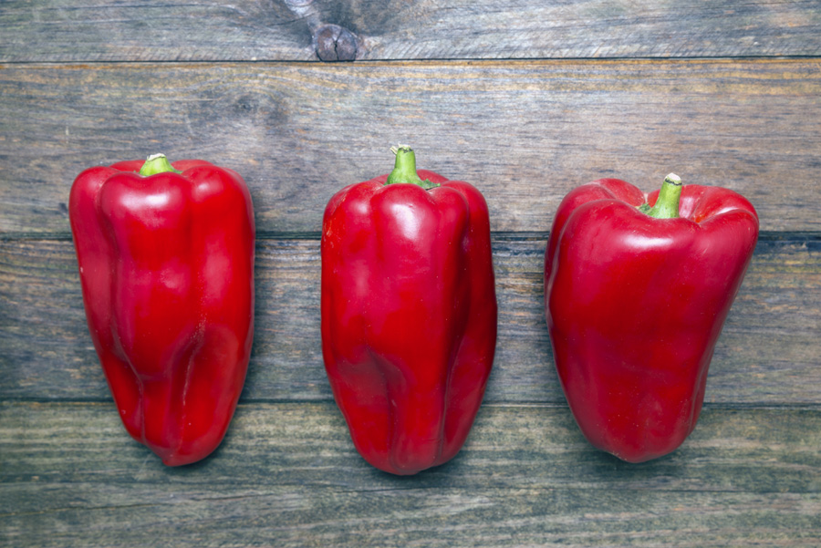 Red bell pepper is a top food for vitamin E