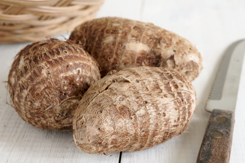 Taro Root is a top food for vitamin E