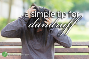 A Simple Tip For Dandruff